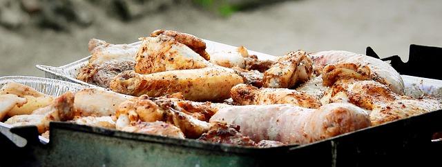 kuřecí paličky na grilu