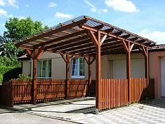 Garážová stání s pultovou střechou - Garážové stání Standard