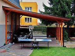 Garážová stání s pultovou střechou - Garážové stání Standard ke zdi domu