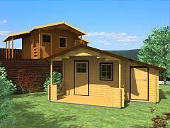 Zahradní domky EKONOMIK - cenově výhodné domky - Zahradní chatky Camping EKO