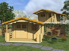 Zahradní domky EKONOMIK - cenově výhodné domky - Zahradní chatky Luka EKO DD