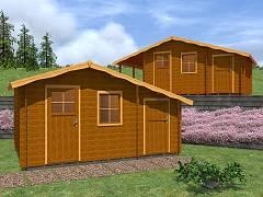Zahradní domky EKONOMIK - cenově výhodné domky - Zahradní chatky Zita EKO