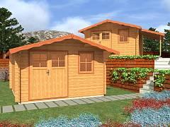 Zahradní domky EKONOMIK - cenově výhodné domky - Zahradní domky Laura EKO DD