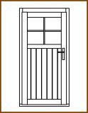Dveře 84/193 cm, 1/3 sklo, Linde, palubkové, levé
