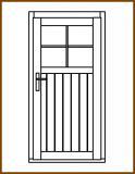 Dveře 84/193 cm, 1/3 sklo, Linde, palubkové, pravé