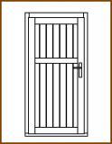 Dveře 84/181 cm, plné, Linde, palubkové, levé