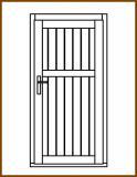 Dveře 84/181 cm, plné, Linde, palubkové, pravé