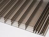 Komůrková polykarbonátová deska Click 16 mm, bronz, vč. pokládky