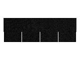 Asfaltový šindel černý, tvar obdélník + lepenka V13