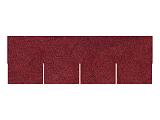 Asfaltový šindel červený, tvar obdélník + lepenka V13