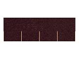 Asfaltový šindel hnědý, tvar obdélník + lepenka V13