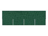 Asfaltový šindel zelený, tvar odélník + lepenka V13
