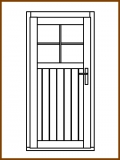 Dveře 84/181 cm, 1/3 sklo, Linde, palubkové, levé