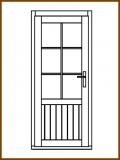 Dveře 84/181 cm, 2/3 sklo, Linde, palubkové, levé
