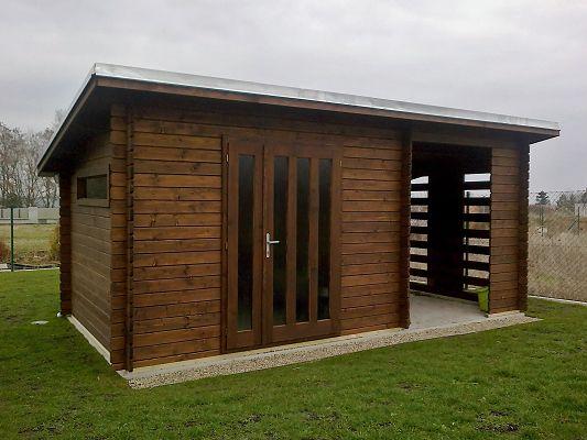 Zahradní domky na nářadí Kamal a Toby EKO - Kamal 3 EKO 300x250 28 mm s impregnací