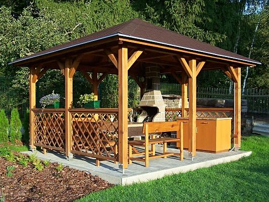 Altán Atelier - Zahradní altán Atelier 500x500 KVH NSi