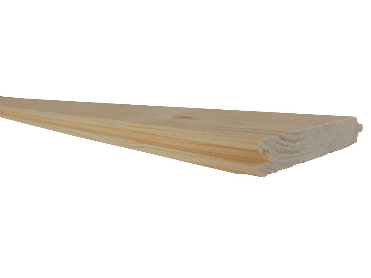 Palubky obkladové SMRK<br> síla 19 mm - Obkladové palubky SMRK 19x116x5000, kvalita A/B, krátké pero - klasik
