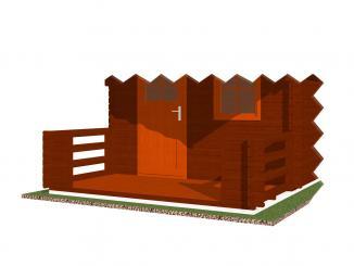 Čelní terasa 350x150 s podlahou