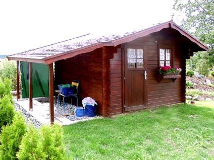 Zahradní domky Laura EKO - Laura EKO 350x250 28 mm + přístřešek