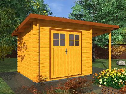 Zahradní domky na nářadí Robin EKO - Robin EKO DD 350x250 28 mm + přístřešek