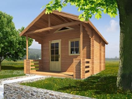 Rekreační chata Ellen (12 -16 m2) - Ellen III 400x400 33 mm s terasou
