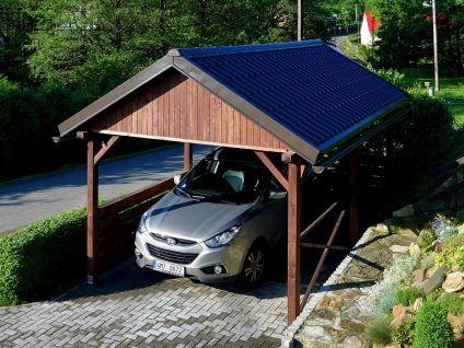 Garážová stání se sedlovou střechou - Garážové stání Sedlo 350x500 s plnými štíty