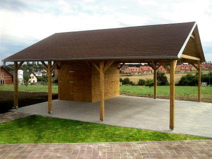Garážová stání se skladem - Garážové stání se skladem 600x700 - sedlová střecha