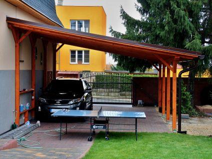Garážové stání Standard ke zdi domu - Garážové stání Standard ke zdi domu 350x520 - sklon 10°