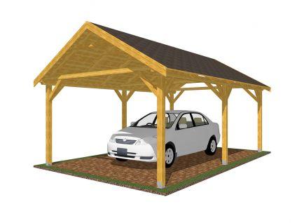 Garážová stání se sedlovou střechou - Garážové stání Sedlo 350x600