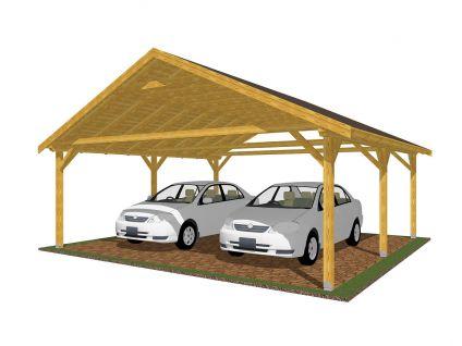 Garážová stání se sedlovou střechou - Garážové stání Sedlo 600x600
