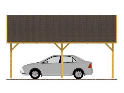 Garážová stání se sedlovou střechou - Garážové stání Sedlo 600x600 s plnými štíty