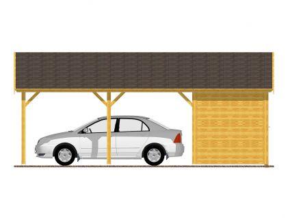 Garážová stání se skladem - Garážové stání se skladem 300x700 - sedlová střecha