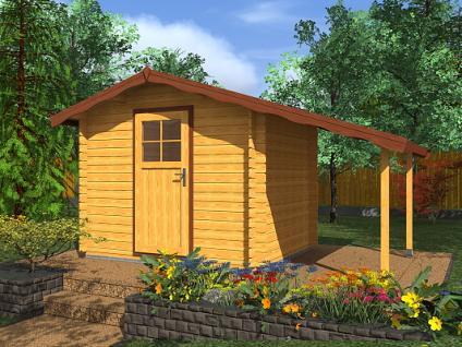 Zahradní domky na nářadí Albert EKO - Albert EKO 250x250 28 mm + přístřešek