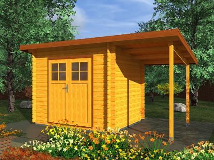 Zahradní domky na nářadí Robin EKO - Robin EKO DD 300x250 28 mm + přístřešek