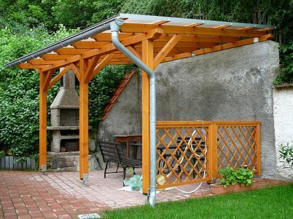 Pergoly Standard ke zdi domu - Pergola Standard ke zdi domu 250x270 - sklon 10°