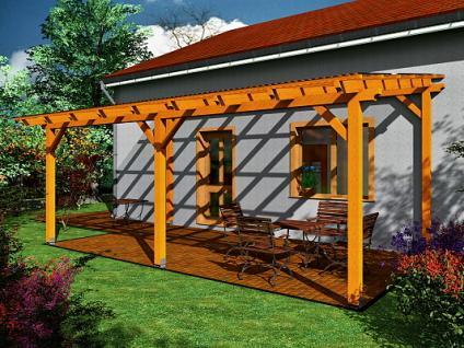 Pergoly Standard ke zdi domu - Pergola Standard ke zdi domu 350x570 - sklon 10°