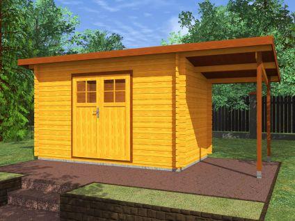 Zahradní domky na nářadí Robin EKO - Robin EKO DD 350x200 28 mm + přístřešek