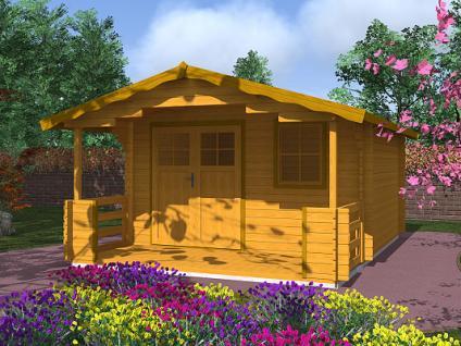 Zahradní chatky Luka EKO DD - Luka EKO DD 350x350 28 mm