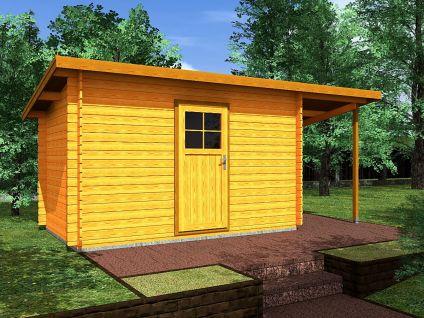 Zahradní domky na nářadí Robin EKO - Robin EKO 350x200 28 mm + přístřešek