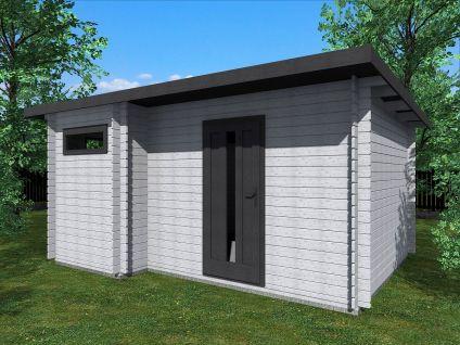 Zahradní domky UELI <br> s rovnou střechou - Ueli 450x350 28 mm