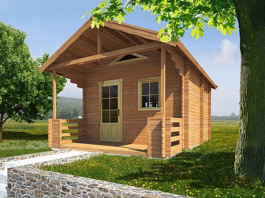 Rekreační chata Ellen (12 -16 m2) - Ellen II 350x400 33 mm s terasou