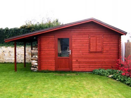 Zahradní domky Claudia - Claudia 350x350 28 mm