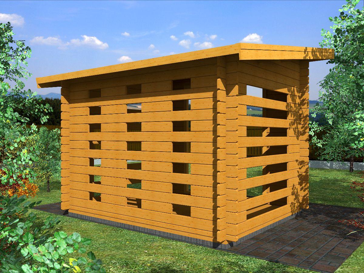 Dřevníky pro palivové dřevo - Dřevník Standard 250x200 28 mm