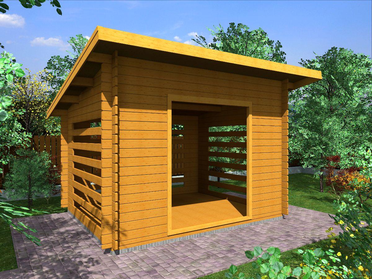 Dřevníky pro palivové dřevo - Dřevník Standard 300x250 28 mm