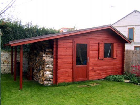 Claudia 400x300 cm - Zahradní domek Claudia atypického rozměru s okenicí a dveřmi prosklenými ze 2/3. Atypické provedení dle přání zákazníka.