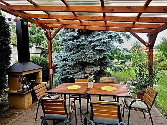 Pergola Standard 330x350 - Zahradní pergola se střechou z polykarbonátových desek WT. Atypický rozměr.