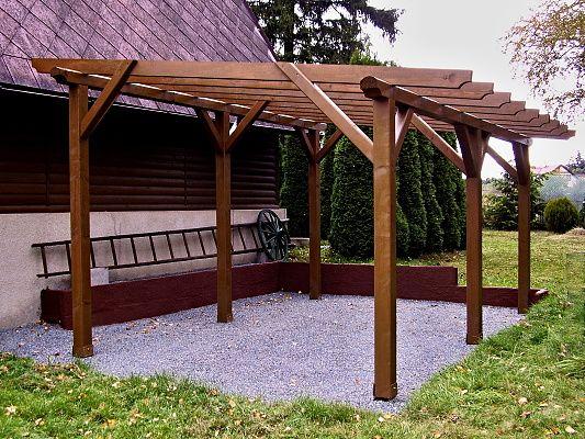 Pergola Standard 250x420 - Zahradní pergola Standard bez sklonu a střešní krytiny. Standardní provedení, atypický rozměr.
