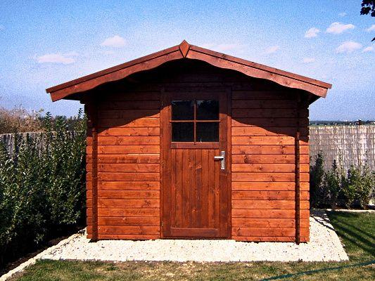 Albert 250x300 s přesahem 70 cm - Nářaďový zahradní domek Albert s čelním přesahem střechy 70 cm.