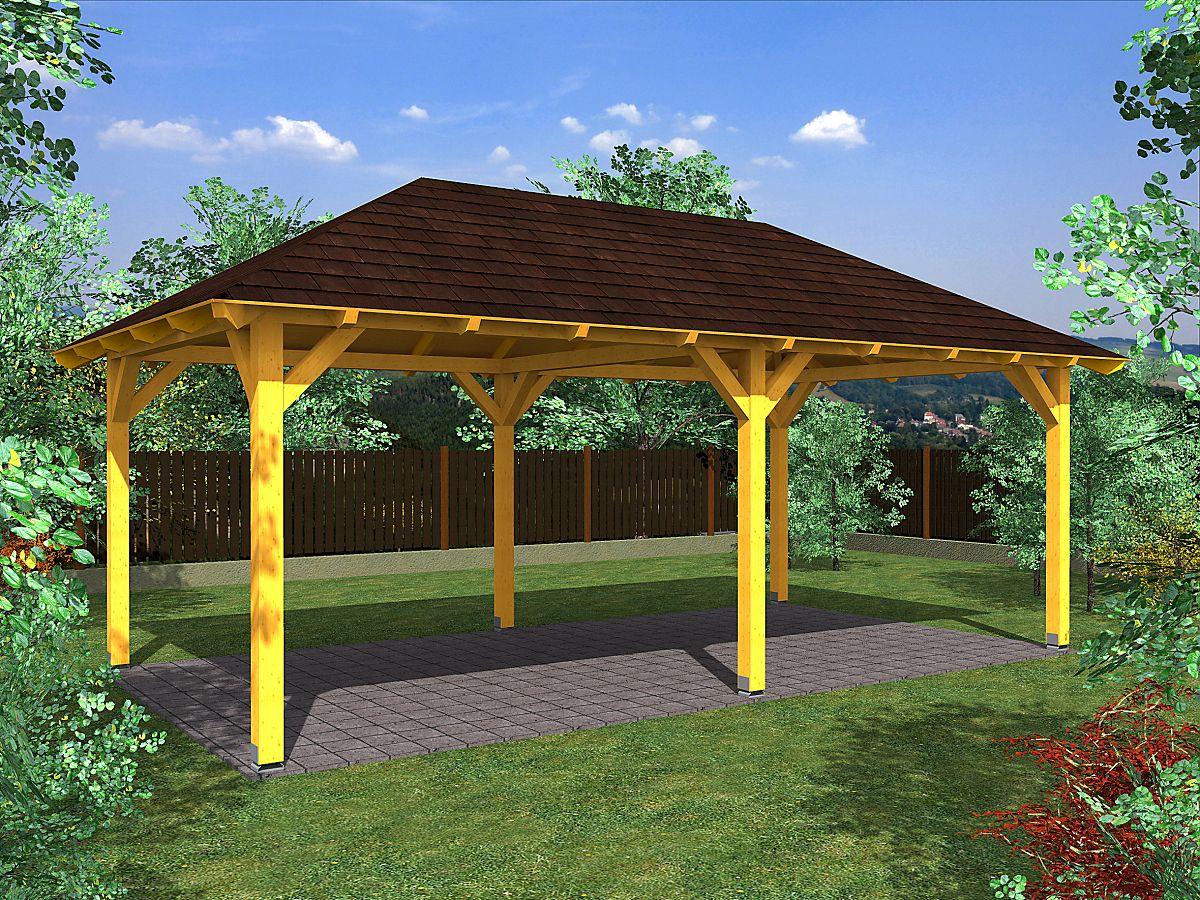 Garážová stání s valbovou střechou - Garážové stání Valba 300x600 KVH NSi