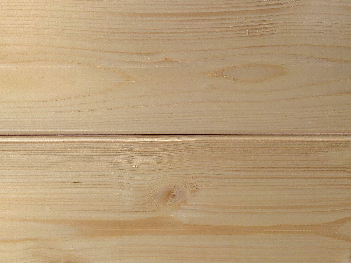 smrková palubka 15 mm - Klasický profil s krátkým perkem. Po spojení vznikne okrasný žlábek.